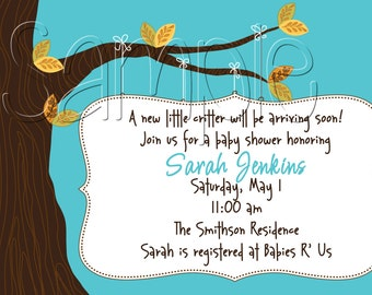 25 5x7 Autumn Inspired Baby Shower Party Invitation