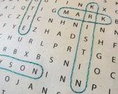 Word Search / Seek and Find Family Pillow