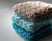 Stocking Stuffer  Wash Cloth, Dish Cloth, Scrubbie, cotton crochet, Handmade, Eco friendly, reuseable
