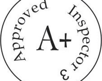 """Inspector pocket stamp, metal, rugged, rubber stamp 0.75"""""""