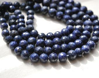 1/2 strand of faceted sapphire balls