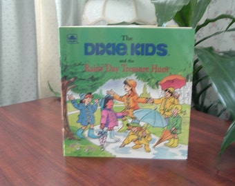 Vintage book The Dixie Kids and the rainy day treasure hunt
