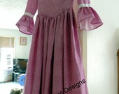 Special order  for Lois    Pilgrims Dress, Bonnet, and Drape