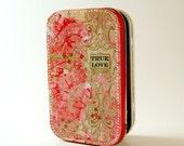 True Love talisman altered tin valentine