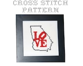 DIY Love Georgia - .pdf Original Cross Stitch Pattern - Instant Download