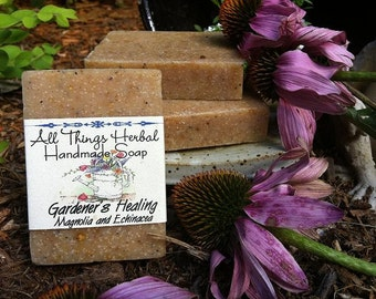 Gardener's Healing Herbal Soap - Handcrafted Natural Soap, for the gardener