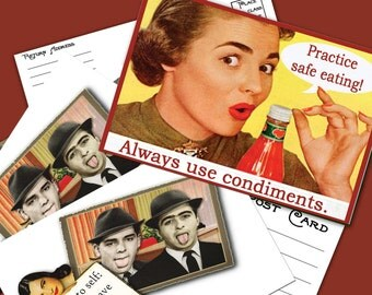 Snarkalicious Greetings Printable Funny Postcards 2 Designs per set Instant Download