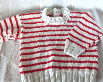 Handknitted Babies/Toddlers Sweater, Age 6 monthes