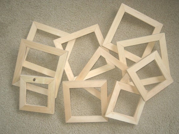 Bl Working Unfinished Wood Picture Frame With Glass
