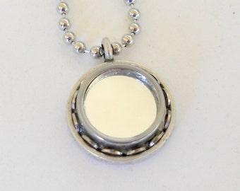 Typewriter Key Necklace/Pendant Mirror Mirror