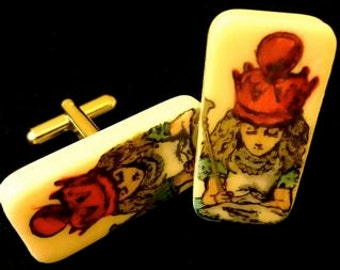 Red Queen Alice Cuff Links