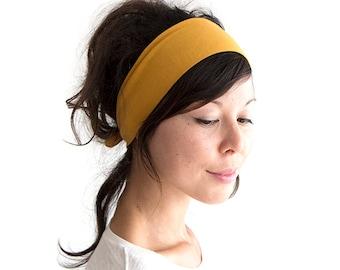 Mustard Tie Back Headscarf