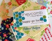 SALE Happy Go Lucky Honeycomb Hexie Precut in Happy Go Lucky Fabrics by Bonnie and Camille for Moda Fabrics- 40- 6 inch hexies