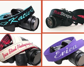 Personalized Camera Strap - Custom Strap - DSLR Camera Strap - Personalized with Minky Lining