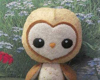 Felt Golden Barn Owl