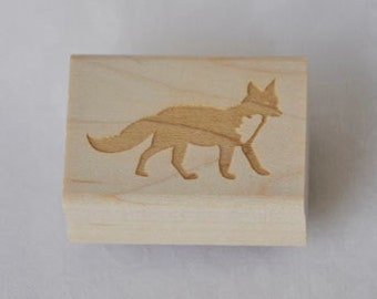 Rubber Stamp -Fox Stamp - Simple and Cute Stationery Stamp