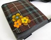 tartan felt flower satchel bag by Missy Mao Mao