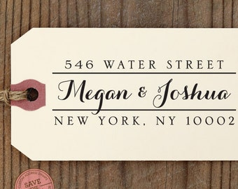 "CUSTOM ADDRESS STAMP - Eco Friendly & self inking return address stamp, personalized, Etsy Shop Labels, rsvp address stamp ""Calligraphy 76"""