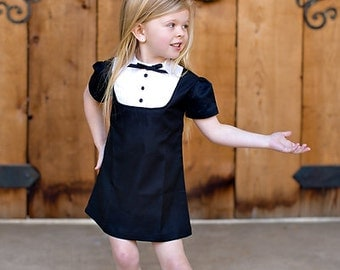 1960 Style Tucked front dress children girls clothing