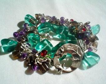 Bracelet- Family Charm Bracelet-Ooak