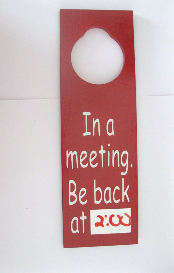Items Similar To In A Meeting Be Back At Painted Wooden