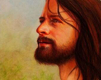 Portrait of the Savior: A fine Art Print of Jesus Christ