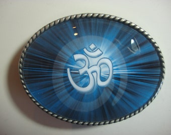 Om Yoga Belt Buckle