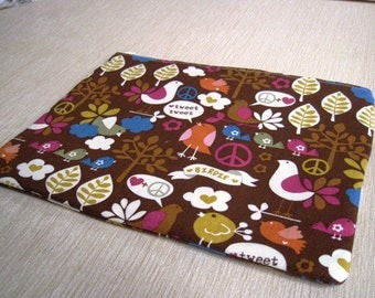 """Tweet Tweet - Macbook 13"""" Air or Macbook 13 Inch Pro - Laptop Case - Laptop Sleeve - Cover - Bag - Padded and Zipper Closure"""