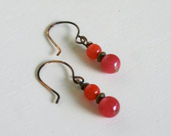 Imogene Earrings (Red/Orange) -1 Color Available