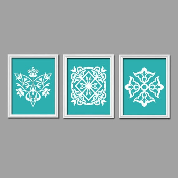 Turquoise Wall Art Bedroom Pictures Canvas Or Prints Bathroom Artwork Bedroom Pictures Damask