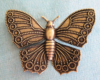 Large Brass Butterfly 2429B