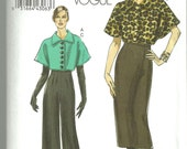 Vogue 8604 Very Easy Misses Jacket Skirt and Pants
