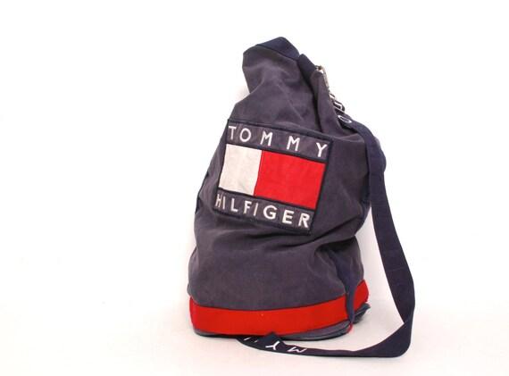 tommy hilfiger designer duffel bag 90s