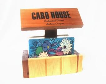 Vintage Souvenir Card House Cedar Enchanted Forest
