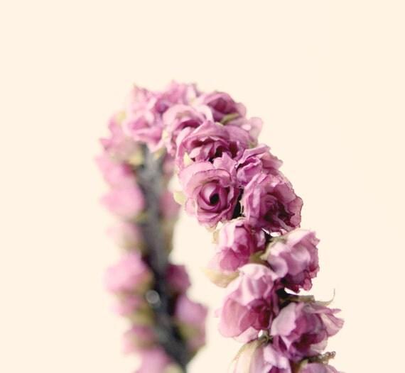 Flower Crown Purple: Bridal Hair Crown Flower Crown Purple Bridal By Whichgoose