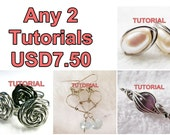 WIRE JEWELRY TUTORIAL Package - Any 2 Tutorials for USD7.50