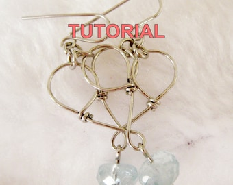 WIRE JEWELRY TUTORIAL - Heart to Heart Earrings