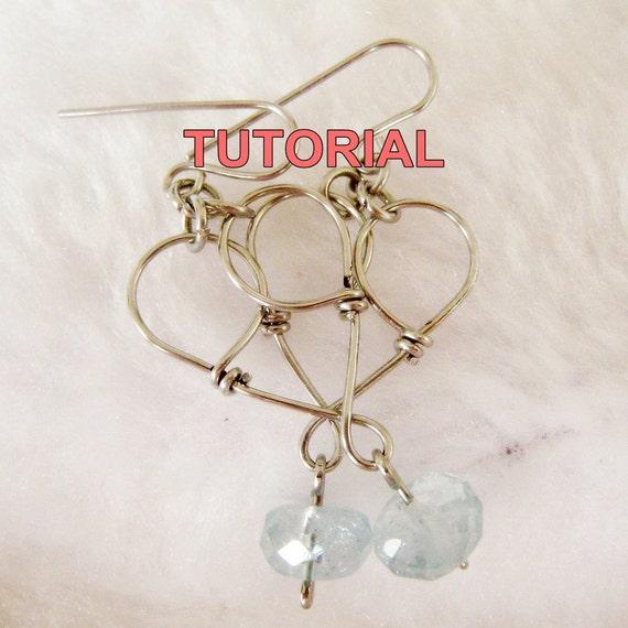 WIRE JEWELRY TUTORIAL - Heart to Heart Earrings