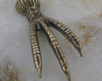New - Steampunk Avian Bird Claw Talon Large Antique Brass 1264 - 6 Pieces