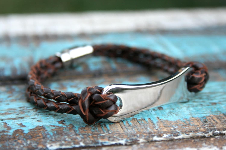bracelets for engraved bracelet s leather by