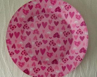 Decorative Decoupage Glass Plate