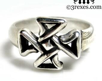 Silver Celtic Cross Friendship Ring Size 5.5