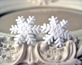 Snowflake plugs for gauged ears 4mm 6G stretched ears Christmas
