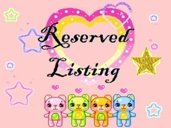 Reserved listing for michellerozell