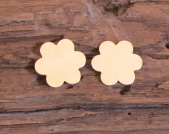 Gold Filled 3/4 24 gauge 2 daisy flower discs double clad earrings pendant making