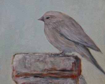 Little Gray Finch - Original Painting