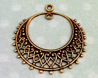 Filigree Hoop, Antique Gold, Trinity Brass, 2 Pc. AG225