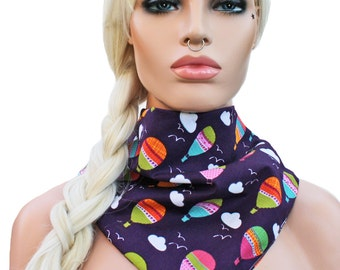 Triangle Scarf or Bandana Headwrap Summer Hot Air Balloons