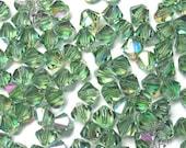 DESTASH 60 Swarovski 5301 / 5328 6mm ERINITE TRANSMISSION Crystal Bicone Beads