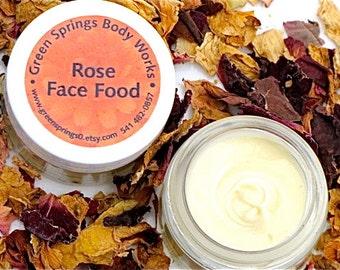 Organic Rose Face Food Moisturizer Cream 1 oz